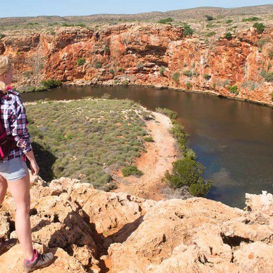 Vista al rio australiano