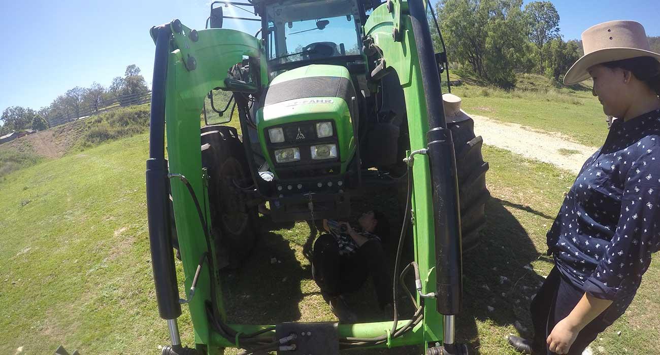 Entrenamiento con tractores