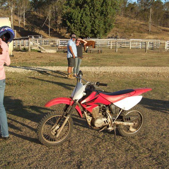 Andar en moto